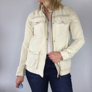 Free People distressed utility cargo jacket